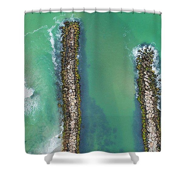 Weekapaug Breachway Shower Curtain