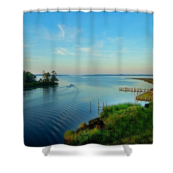 Weeks Bay Going Fishing Shower Curtain