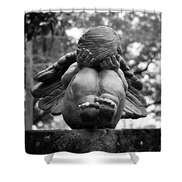 Weeping Child Angel Shower Curtain