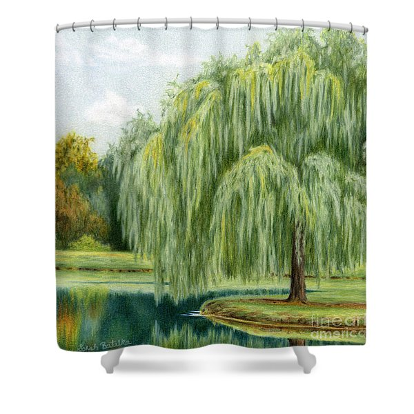 Under The Willow Tree Shower Curtain