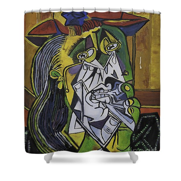 Picasso's Weeping Woman Shower Curtain