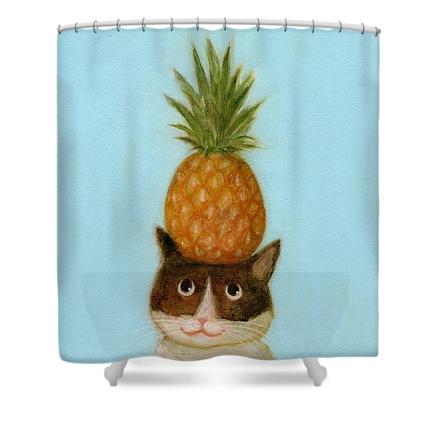 Welcome Cat Shower Curtain