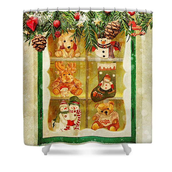 Welcome Christmas Shower Curtain
