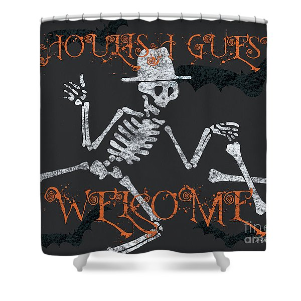 Welcome Ghoulish Guests Shower Curtain