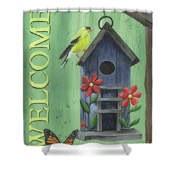 Welcome Goldfinch Shower Curtain