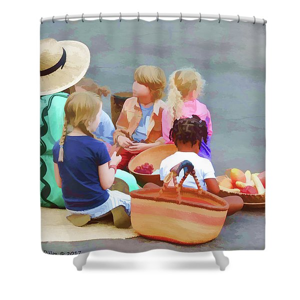 Welcome The Children Shower Curtain