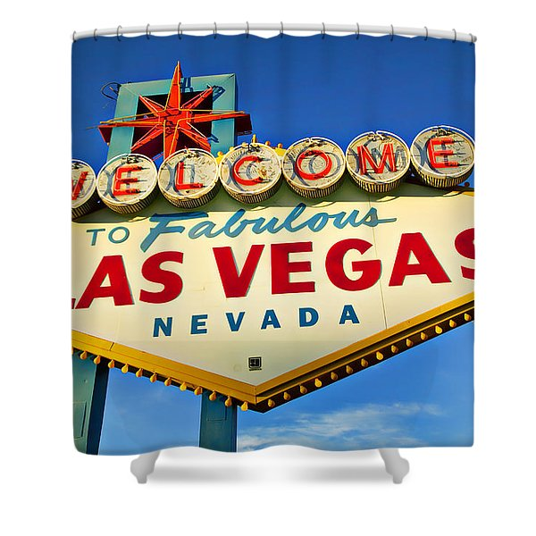 Welcome To Las Vegas Sign Shower Curtain