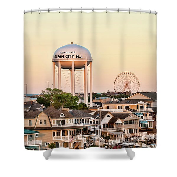 Welcome To Ocean City, Nj Shower Curtain