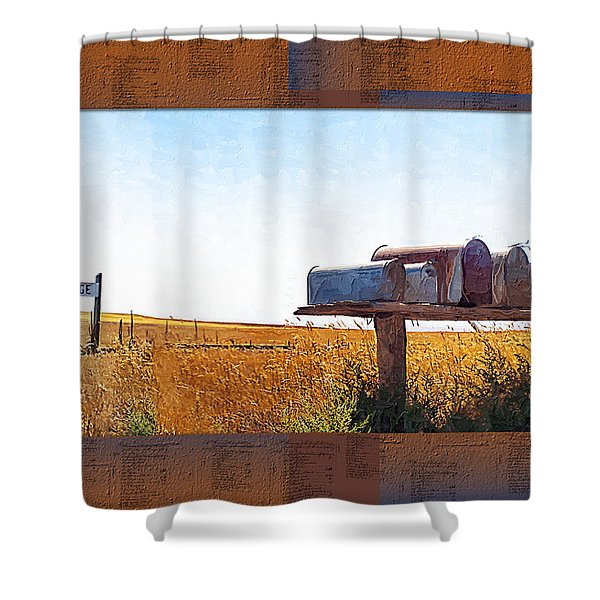 Welcome To Portage Population-6 Shower Curtain