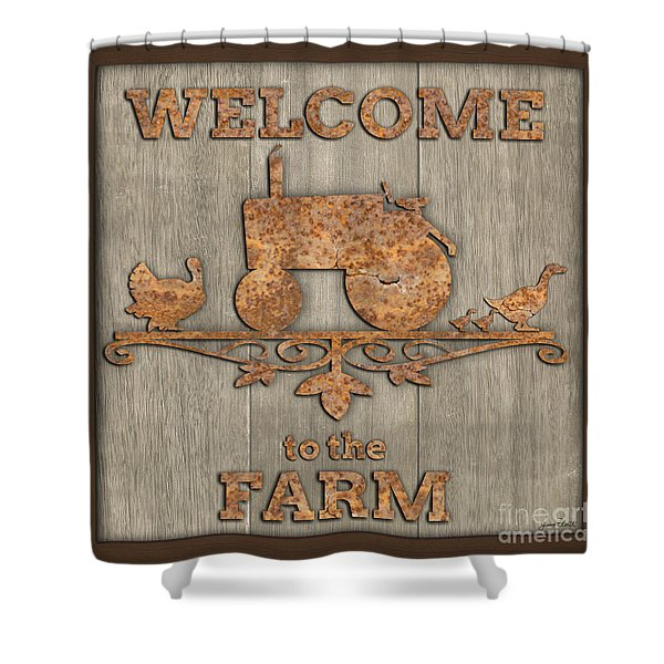 Welcome To The Farm-jp3469 Shower Curtain