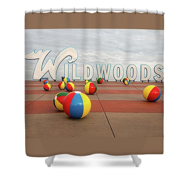 Welcome To The Wildwoods Shower Curtain