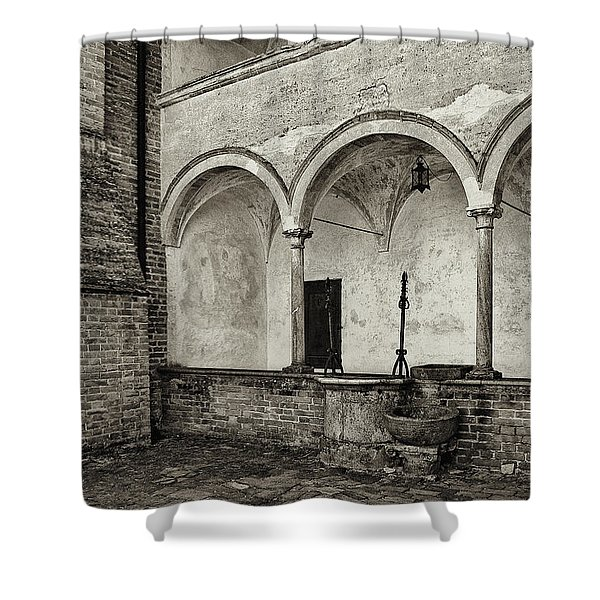 Well And Arcade Shower Curtain