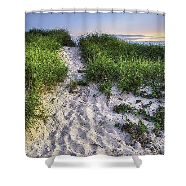 Wellfleet Beach Path Shower Curtain
