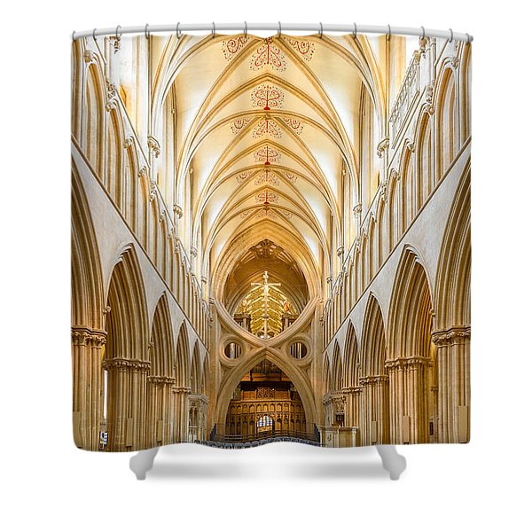 Wells Cathedral Nave Shower Curtain