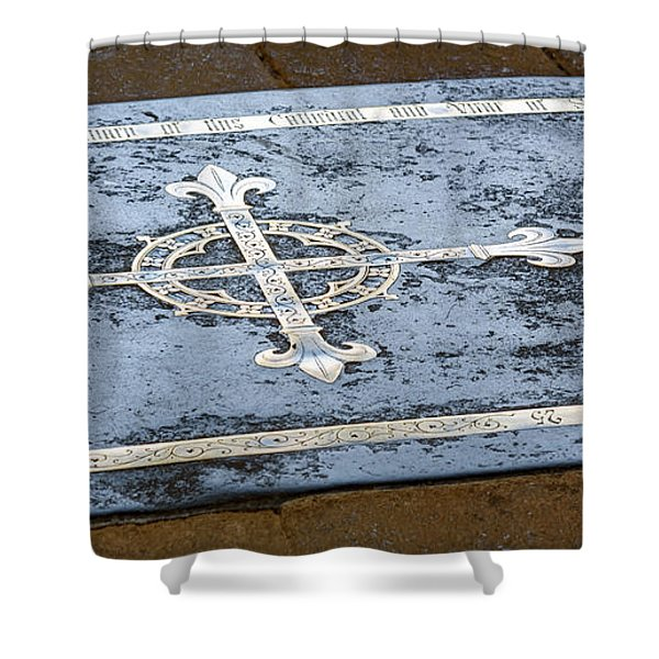 Wells Cathedral Tomb Shower Curtain