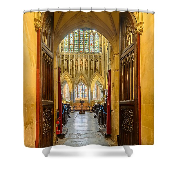 Wellscathedral, The Quire Shower Curtain