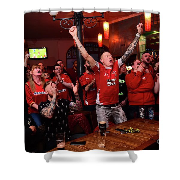 Welsh Rugby Fans Shower Curtain