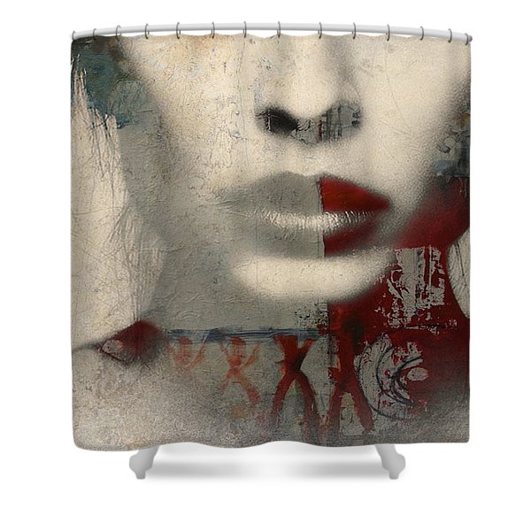 Were All Alone  Shower Curtain
