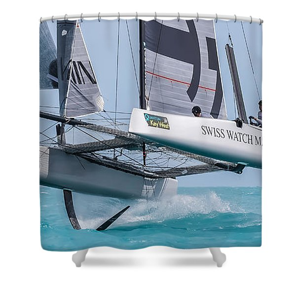 We're Flying Now Shower Curtain