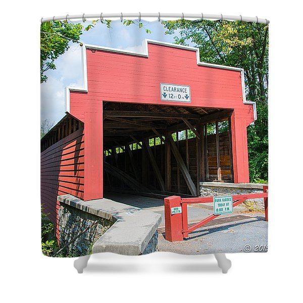 Wertz Covered Bridge Shower Curtain