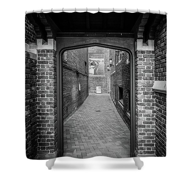 Shower Curtain featuring the photograph Wesport Arch by Michael Hope