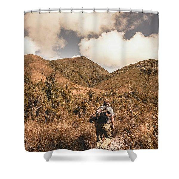 West Coast Tasmania Traveller Shower Curtain