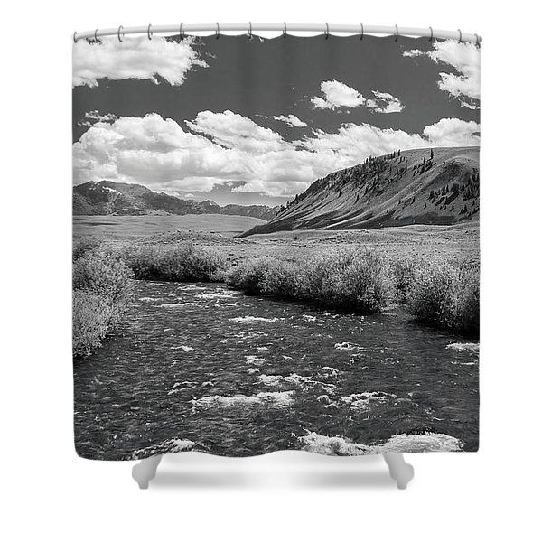 West Fork, Big Lost River Shower Curtain