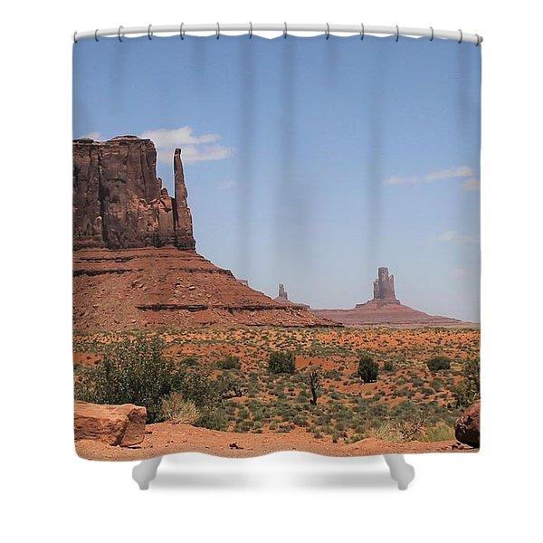 West Mitten Butte Monument Valley Shower Curtain