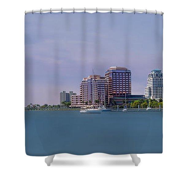 West Palm Beach - Spring Shower Curtain