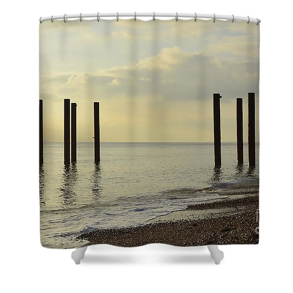 West Pier Supports Shower Curtain