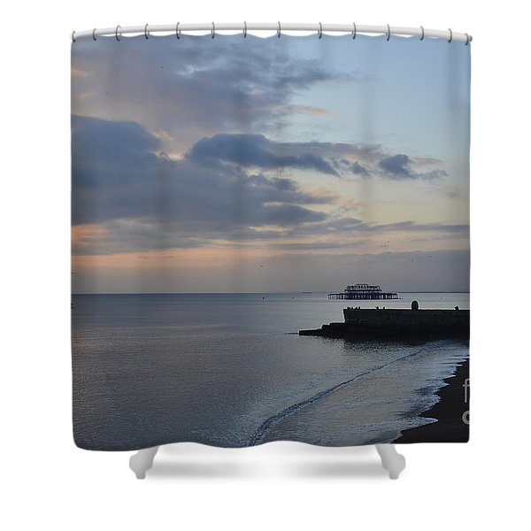 West Pier Views Shower Curtain