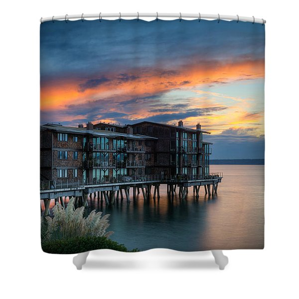 West Seattle Living Shower Curtain