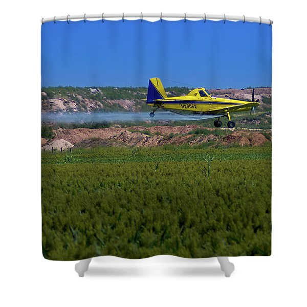 West Texas Airforce Shower Curtain