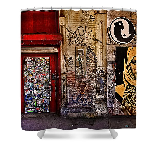 West Village Wall Nyc Shower Curtain