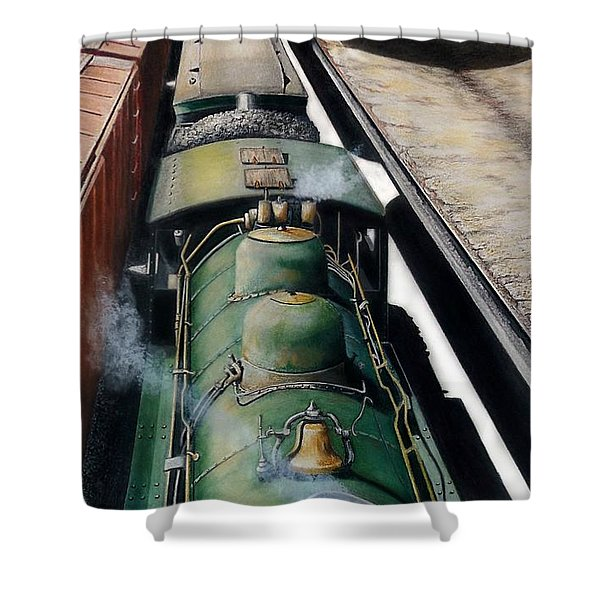 Eastbound To The Mountains Shower Curtain