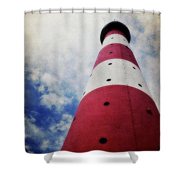 Westerhever Lighthouse Vintage Shower Curtain