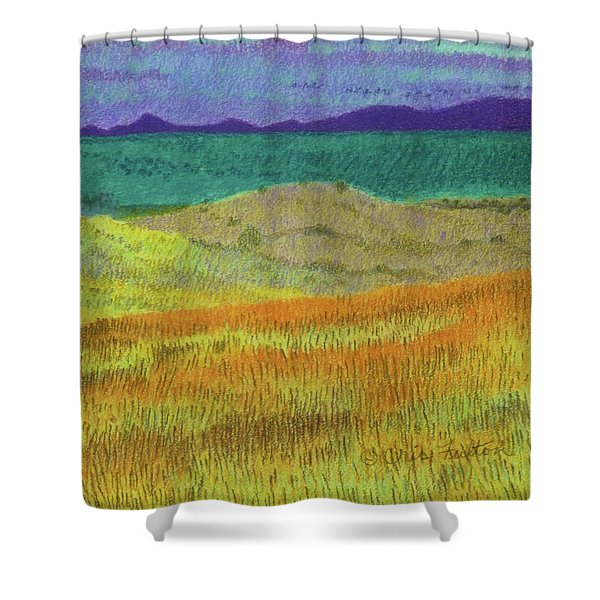 Shower Curtain featuring the painting Western Edge Prairie Dream by Cris Fulton