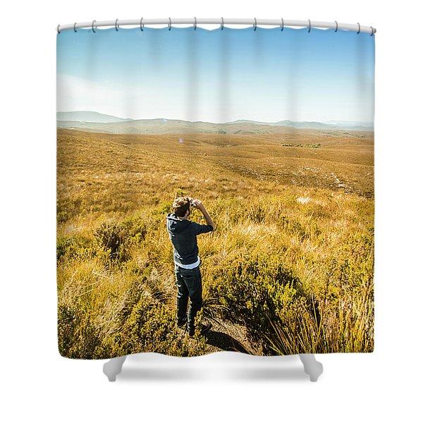 Western Plains Of Tasmania Shower Curtain