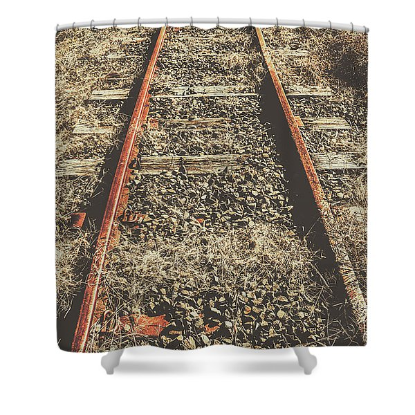 Western Railway Of Routes Forgotten Shower Curtain