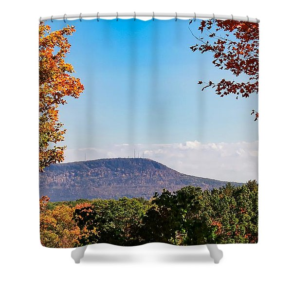 Shower Curtain featuring the photograph Westhampton View Of Mount Tom by Sven Kielhorn