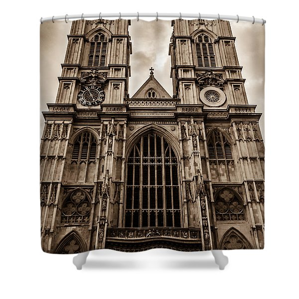 Westminister Abbey Sepia Shower Curtain