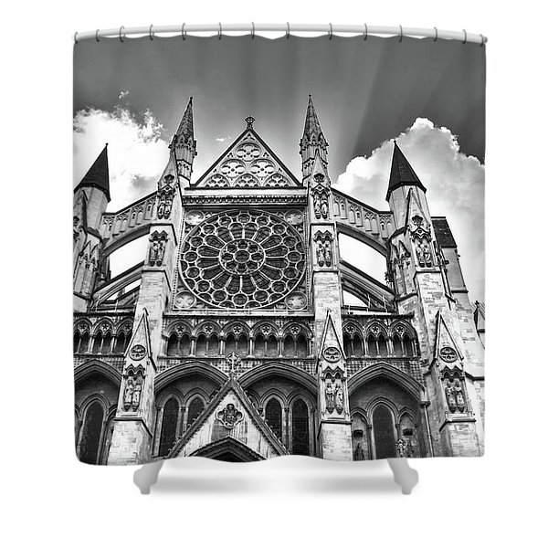 Westminster Abbey Under The Clouds Shower Curtain