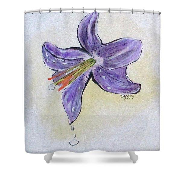 Wet Flower Shower Curtain