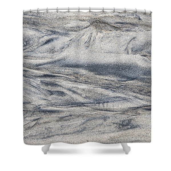 Wet Sand Abstract I Shower Curtain