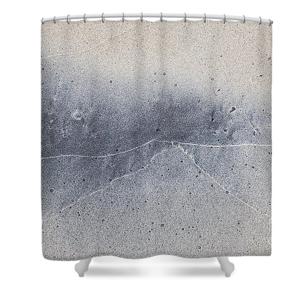 Wet Sand Abstract V Shower Curtain