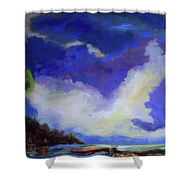 Wetlands Sky  Shower Curtain