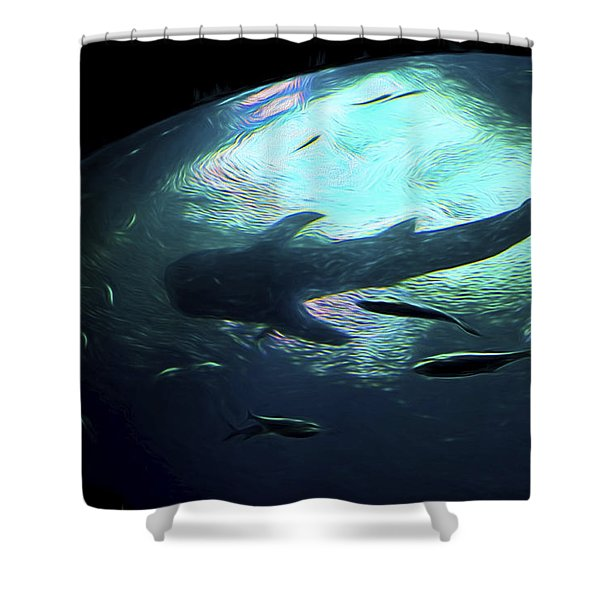 Whale Shark Of The Earth Shower Curtain