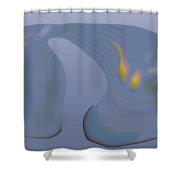 Whalescape Shower Curtain
