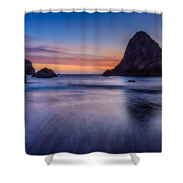Whaleshead Beach Sunset Shower Curtain