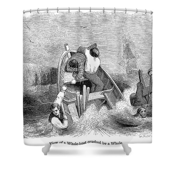 Whaling, C1830 Shower Curtain